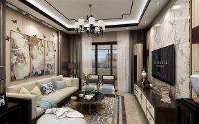 127平新中式风格三居室装修效果图