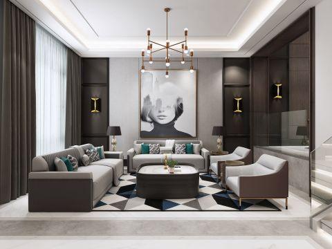 2019现代90平米装饰设计 2019现代复式效果图