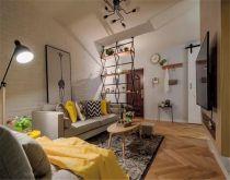 90平北欧风格两居室装修效果图