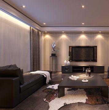 2019现代150平米效果图 2019现代三居室装修设计图片