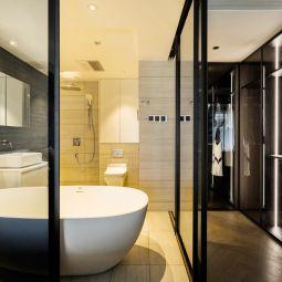美感浴室隔断门浴缸装修案例效果图