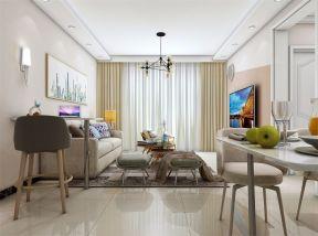 2019现代简约70平米设计图片 2019现代简约二居室装修设计
