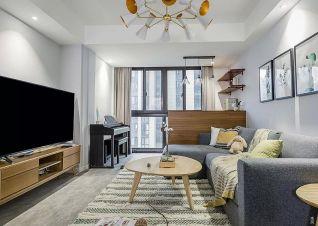 98平现代简约风格两室一厅装修效果图