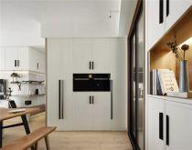 现代简约餐厅地板装潢设计图片