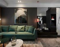 128平后现代三居室装修效果图