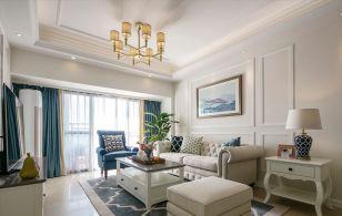 2019美式客厅装修设计 2019美式窗帘装修效果图片