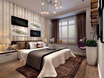 新中式卧室窗帘设计图