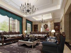 560平美式风格别墅装修效果图