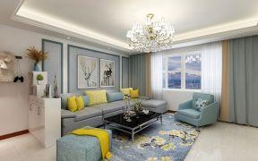 简洁灰色沙发装潢效果图