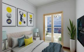 卧室米色床效果图图片