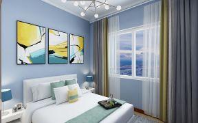 卧室窗帘现代简约家装设计图