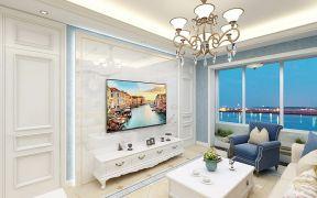 清新素丽美式白色电视柜装修