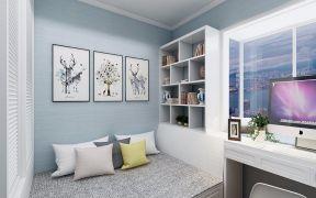 温暖白色卧室装饰实景图片