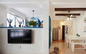 2019地中海客厅装修设计 2019地中海电视背景墙装修设计图片