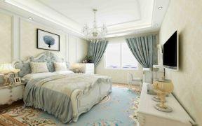 风雅卧室床装饰实景图片