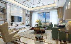 金融街5房2厅2卫北欧风格装修设计