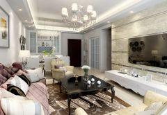 绿岛明珠5房2厅3卫简欧风格装修设计