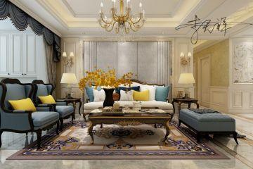 盛世御城128平欧式风格三居室装修效果图