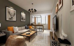 设计优雅米色客厅案例图片