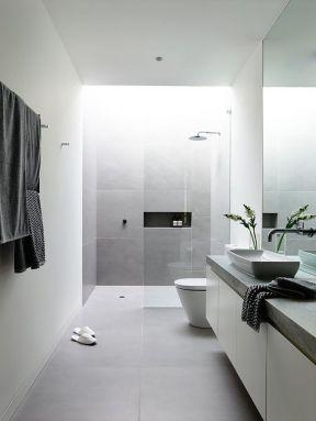 优雅简约黑白灰地砖装修案例图片