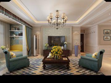 120平米三室两厅装修效果图