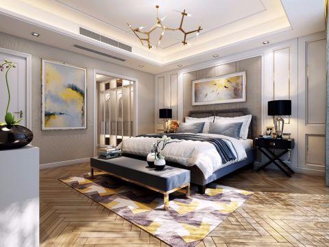 卧室床头柜新中式设计图片