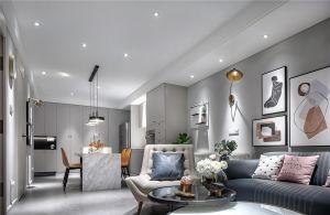 大气白色客厅装修实景图