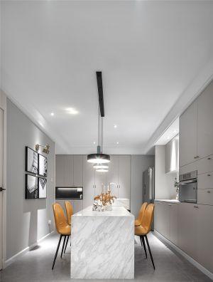 餐厅白色餐桌设计