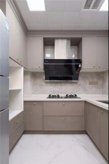 厨房白色细节装潢图