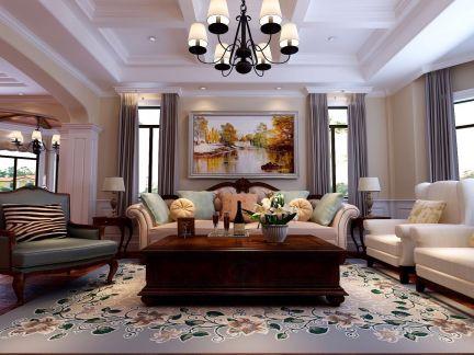 220平美式风格别墅装修效果图