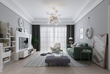 80平米两室一厅现代风格装修效果图