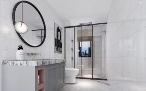 现代简约卫生间浴室柜装饰实景图片
