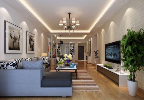 100平米三房两厅现代简约风格案例