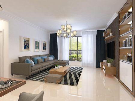 现代简约 100平米三房两厅u乐娱乐平台设计