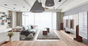 质朴新中式原木色书桌装饰图片