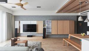 2019现代简约150平米效果图 2019现代简约四居室装修图