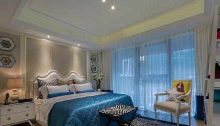 简单大气卧室床效果图图片