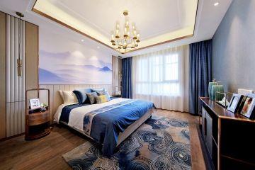卧室床新中式室内装修设计