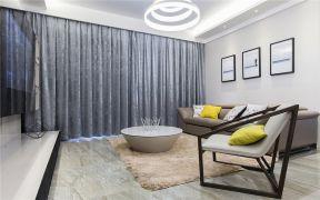 庄重客厅窗帘室内装饰