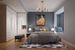 文艺卧室床装潢设计图片
