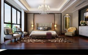 卧室床新中式设计图