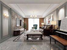 现代白色客厅平面图