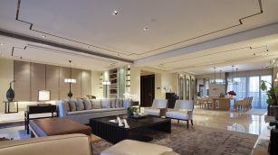 客厅地板砖现代中式室内装饰