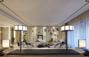 潮流白色客厅设计图