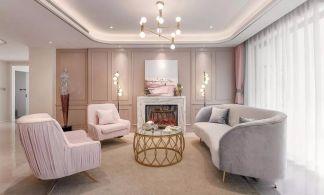 2019法式150平米效果图 2019法式三居室装修设计图片