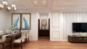 2019美式餐厅效果图 2019美式走廊装修设计图片