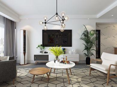 精雕细刻白色客厅装修案例