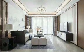 客厅吊顶新中式装修效果图