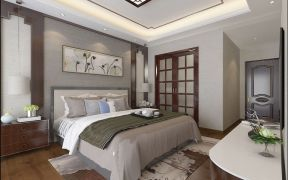 2019中式卧室装修设计图片 2019中式照片墙装修图