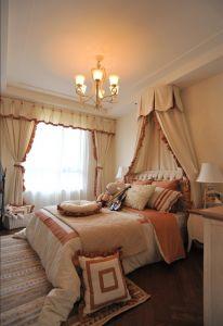 卧室窗帘美式装修图